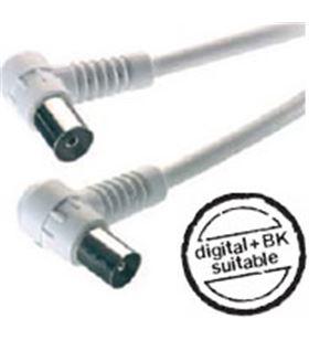 Cable antena acodado 90db 5m blanco Vivanco 43035 7/58 ws-n-43035