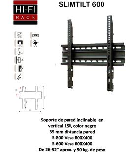 Hifirack soporte tv slim600