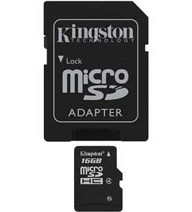 Kingston microsd 16gb - tarjeta de memoria flash m sdc416gb
