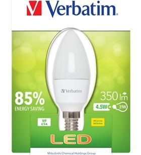 Verbatim bombilla led verbatin 52602 vela e14 (opaca) 4.5w