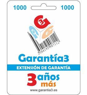 Garantia para productos hasta 1000eur. extensión de garantía de tres años adicionales g3es1000