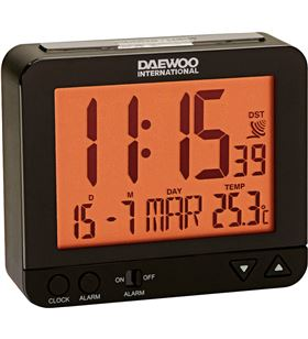Marcas radio reloj despertador daewo dcd200b, pantalla re dbf120