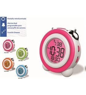 Marcas reloj despertador daewo dcd220pk, pantalla retroil dbf129