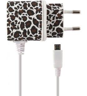 Cargador directo Ksix 1a micro usb leopardo b1740cd02lb
