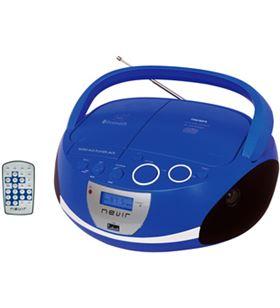 Radio cd Nevir nvr480ub bluetooth mp3 usb azul nvr480ubbl