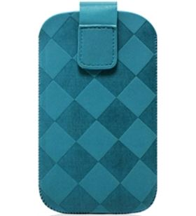 Puro funda nabuk rhomby turquesa iphone 4/3g pufm071