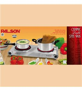 Palson placa vitroceramica double steel plus ceramic 30991