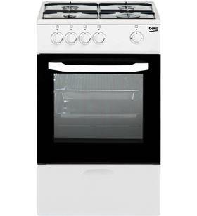 Beko cocina independiente gas natural 4 fuegos csg42010dwn