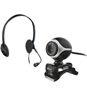 Kit auriculares con micro + webcam Trust 17028
