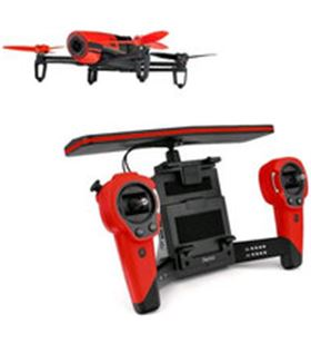 Parrot dron bebop & skycontroller rojo pf725100aa