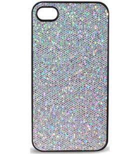 Carcasa Ksix bling iphone 4 plata b0917car63