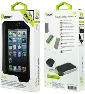Muvit funda ibelt (bumper) negra iphone 5 mubkc0613