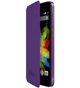 Wiko funda con tapa - bloom purpura 103260