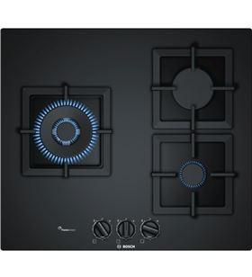 Bosch placa gas ppc6a6b20 60cm 3 quemadores cristal negro