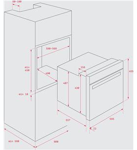 Teka horno compacto acero inoxidable hsc635 inox 41531030 - 41531030