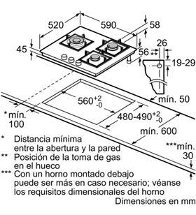 Balay placa gas 3ETG663HN 3 fuegos natural Placas encimeras - 3ETG663HN