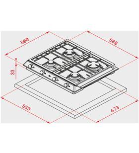 Teka 40212220 placa cocción a gas ex6013gaialdrcn Placas encimeras - EX6013GAIALDRCN