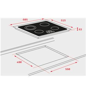 Teka 40239030 placa vitroceramica tz6315 3 zonas high light - TZ6315