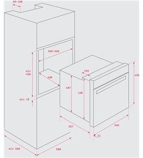 Teka horno convencional hbc535 inox 41531010 45cm Hornos eléctricos independientes - HBC535