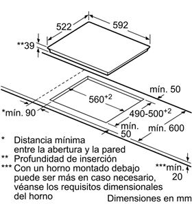Balay placa vitroceramica 60cm ancho 3EB765LQ Vitroceramicas induccion - 3EB765LQ