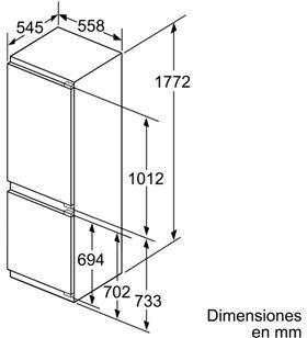 Combi nofrost integ. Balay 3KI7148F 177cm a++ Frigoríficos combinados integrables - 3KI7148F