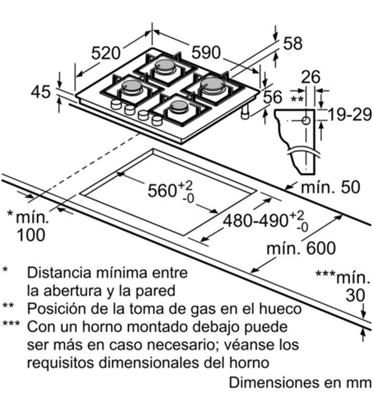 Balay 3ETG664HB , , encimera, gas, encastrable, 60 c - 35444137_6727315845