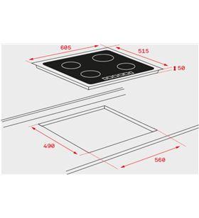 Teka vitroceramica inducción it 6420 marco metálico slim 10210175 - IT 6420