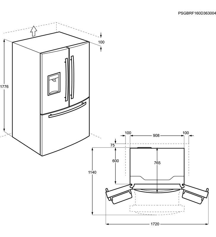 Aeg RMB86321NX frigorifico combi 3 puertas no frost - 35597573_8196110933