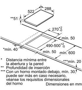 Balay 3EB939LQ encimera, dominó encastrable 30 Encimeras - 3EB939LQ