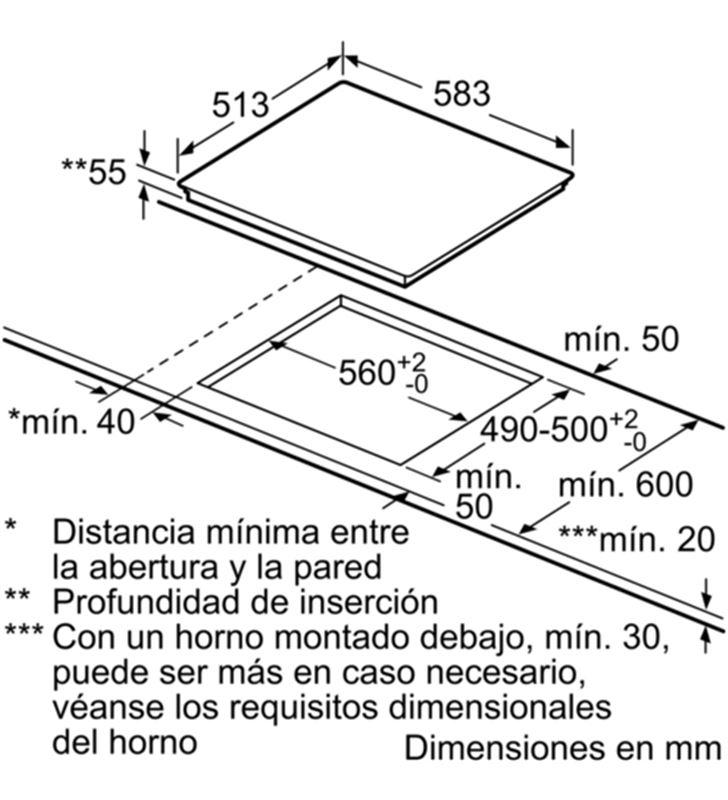 Balay placa induccion independiente 3EB865XR 60cm 3 zonas - 35446033_8194234713