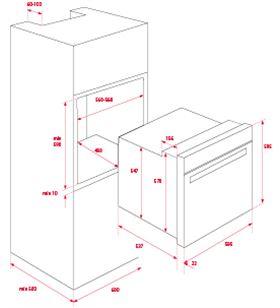 Teka horno indep 60cm hsb610 negro 70l a 41560114 Hornos eléctricos independientes - 41560114