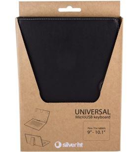 Funda tablet + teclado 111916040199 Silver sanz 9 Accesorios telefonía - 111916040199