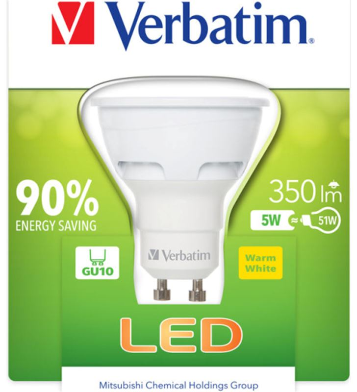 Verbatim bombilla led verbatin 52608 halogena gu10 5w - 21504320_7471
