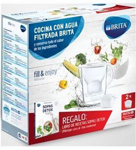 Brita jarra marella blanca+2 filtros+libro detox 1030928