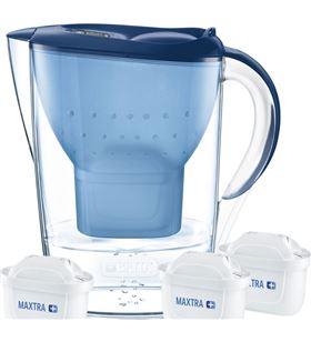 Jarra agua Brita marella azul 2,4l + 3 filtros maxtra+ 1033316