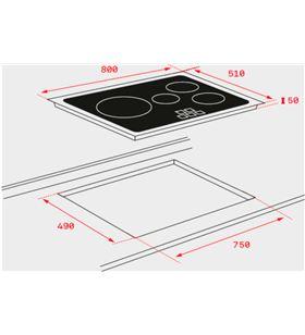 Encimera Tekainducción ir 8430 800 x 510 mm. bisel 10210164 - 10210164