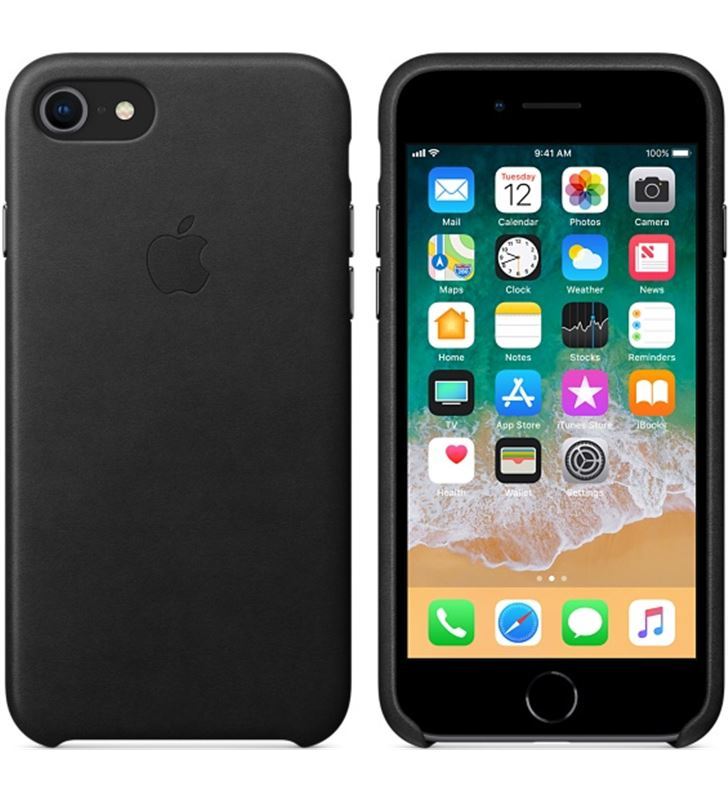Funda Apple iphone 8/7 piel negra MQH92ZM/A Accesorios telefonía - 38079171_8391372894
