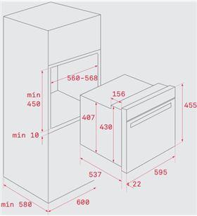 Teka 41534030 horno compacto pirolítico hsc635p inox 44l - 41534030