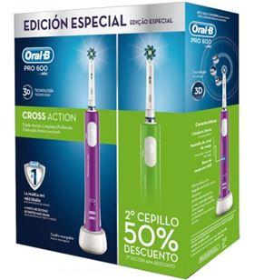 Cepillo dental Braun oral-b duo pro600 verde+morado DUOPRO600VM