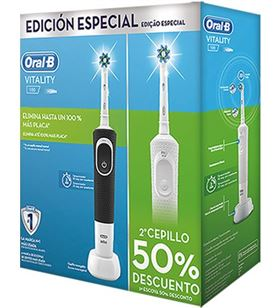 Cepillo dental Braun oral-b duo d100 viatlity blanco + negro DUOD100VIT