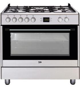 Cocina gas 5f + horno multif. Beko gm 15321 dx MODELO NUEVO - 8690842024580