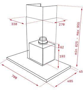 Teka 40487181 campana decorativa dlh786t inox 70cm a+ - 8421152157435_2
