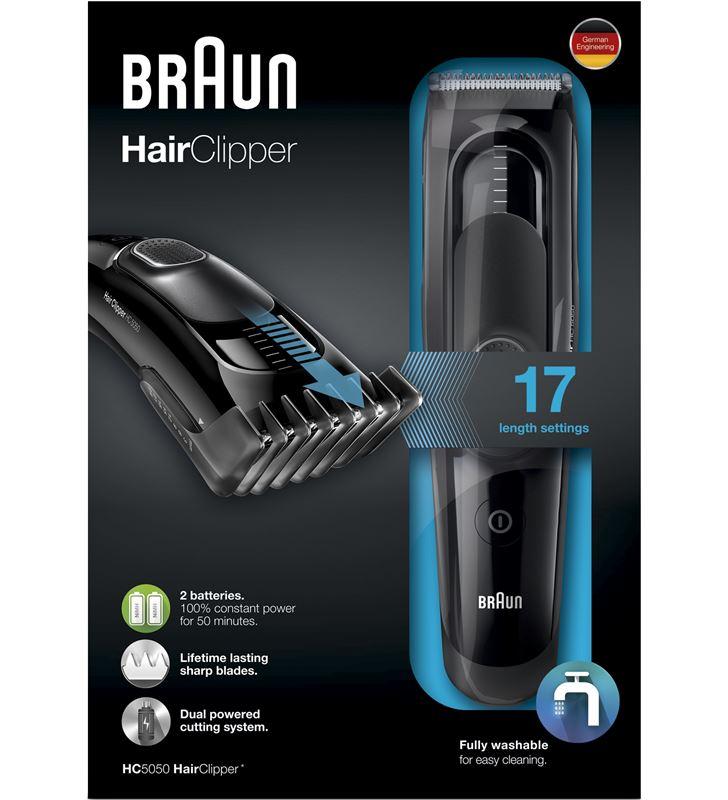 Braun cortapelos barbero hc5050, recargable y red, BRAHC5050 - 17774046_9222