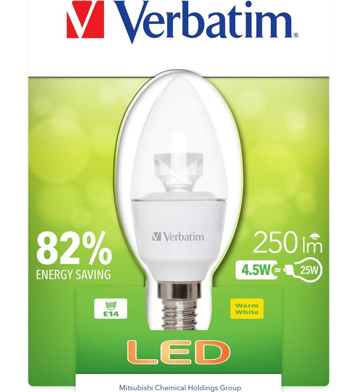 Verbatim bombilla led verbatin 52603 vela e14 (transparente - 21504342_6317028751