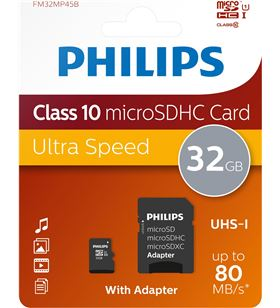 Philips memoria micro sdhc 32gb clase 10 + adaptador fm32mp45b PHIFM32MP45B - FM32MP45B