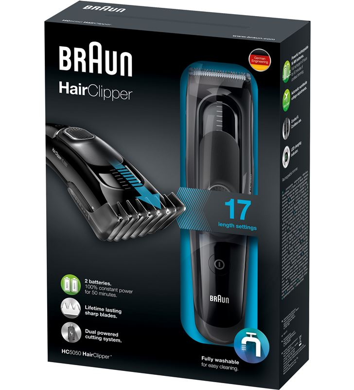 Braun cortapelos barbero hc5050, recargable y red, BRAHC5050 - 17774046_4432