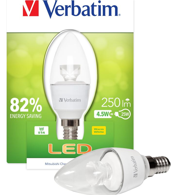 Verbatim bombilla led verbatin 52603 vela e14 (transparente - 21504342_0840550772