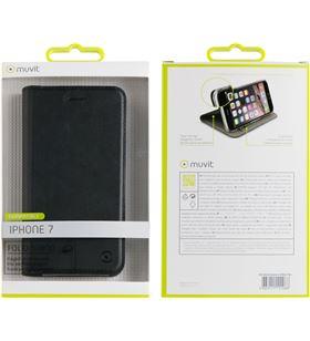 Funda folio stand Muvit soport+tar. iphone 7 negra MUFLS0045 - MUFLS0045