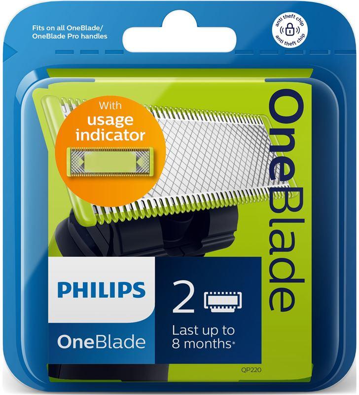 Philips QP220/55 cuchillas one blade qp22055 barbero afeitadoras - 30521449_1204555591