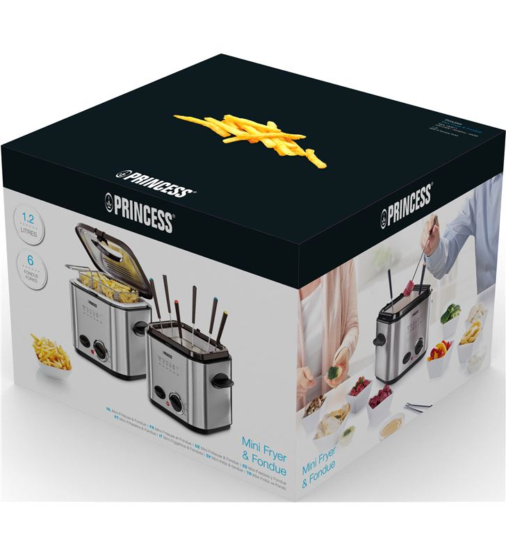 Princess mini fryer & foundue 12l 840 w ps182611 Freidoras - 1224915_4637289431
